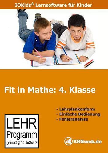 Verpackung von Fit in Mathe: Lernprogramm 4. Klasse [PC-Software]