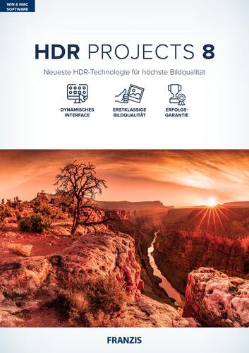 Verpackung von FRANZIS HDR Projects 8 [MULTIPLATFORM]