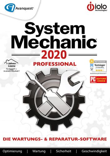 Verpackung von System Mechanic 2020 Professional - 12 Monate / unbegrenzte Geräte [PC-Software]