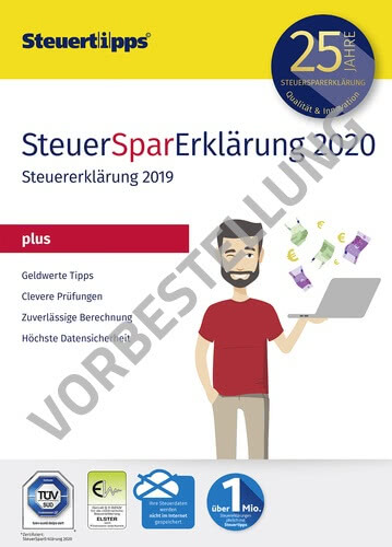 Verpackung von SteuerSparErklärung plus 2021 (für Steuerjahr 2020) - Vorbestellung [PC-Software]