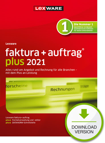 Verpackung von Lexware faktura+auftrag plus 2021 - Jahresversion (365 Tage) [PC-Software]