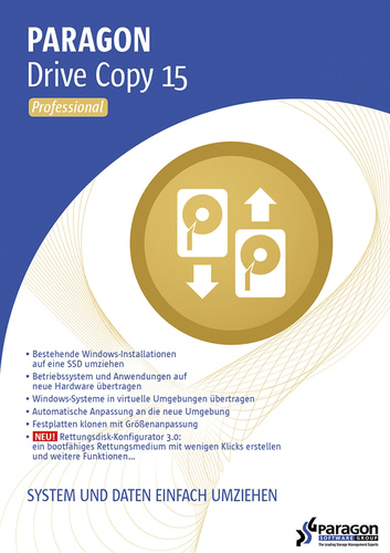 Verpackung von Paragon Drive Copy 15 Professional [PC-Software]