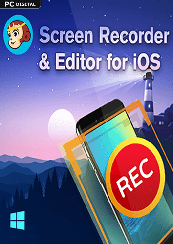 Verpackung von DVDFab Screen Recorder & Editor for iOS (24 Monate) [PC-Software]