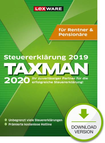 TAXMAN 2020 Rentner & Pensionäre (für Steuerjahr 2019) (Download), PC