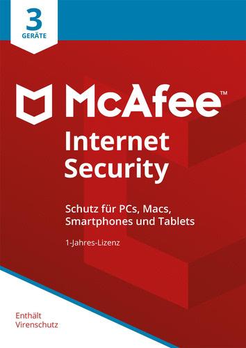Verpackung von McAfee Internet Security 3 Geräte / 12 Monate [MULTIPLATFORM]