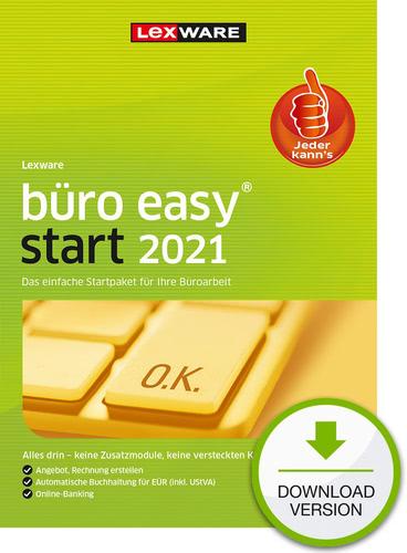 Lexware büro easy 2021 Start – Jahresversion (365 Tage) (Download), PC