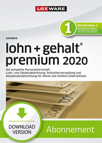 Verpackung von Lexware lohn + gehalt premium 2020 - Abo-Version [PC-Software]