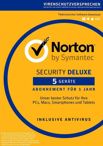 Norton Security 3.0 Deluxe – 5 Geräte (Download), Multi