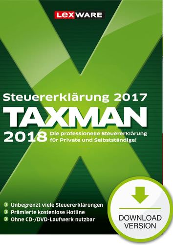 Verpackung von TAXMAN 2018 [PC-Software]