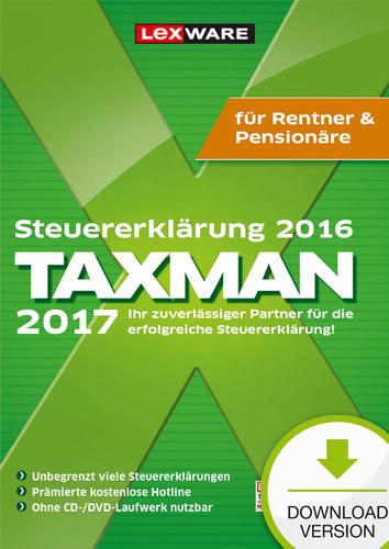 TAXMAN 2017 Rentner&Pensionäre (für Steuerjahr 2016) (Download), PC