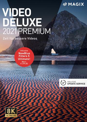 Verpackung von MAGIX Video deluxe 2021 Premium [PC-Software]