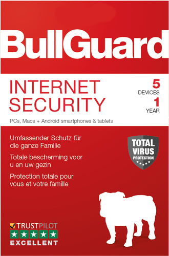 Verpackung von BullGuard Internet Security 5 Geräte / 12 Monate [MULTIPLATFORM]