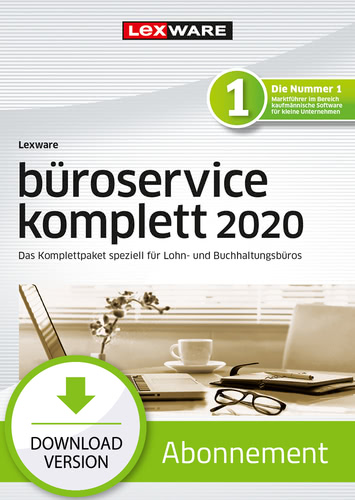 Lexware büroservice komplett 2020 – Mehrplatz – Abo-Version (Download), PC