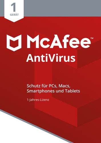 Verpackung von McAfee AntiVirus 1 Gerät / 12 Monate [PC-Software]