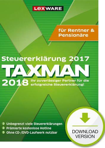 Verpackung von TAXMAN 2018 Rentner & Pensionäre  (für Steuerjahr 2017) [PC-Software]